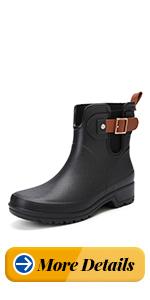 gracosy botas de lluvia para mujer