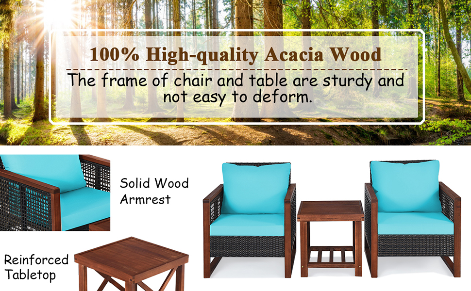 acacia wood furniture set