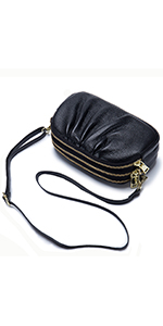 real leather small crossbody bag