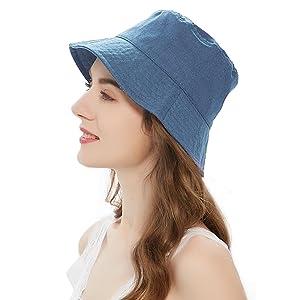 Denim Blue Bucket Hat