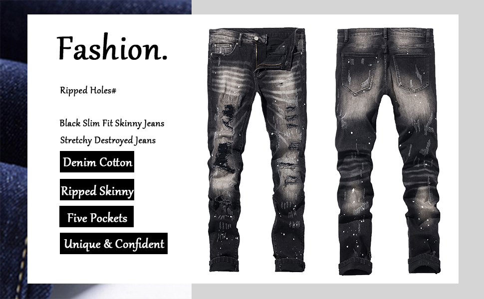 ripped jeans holes men