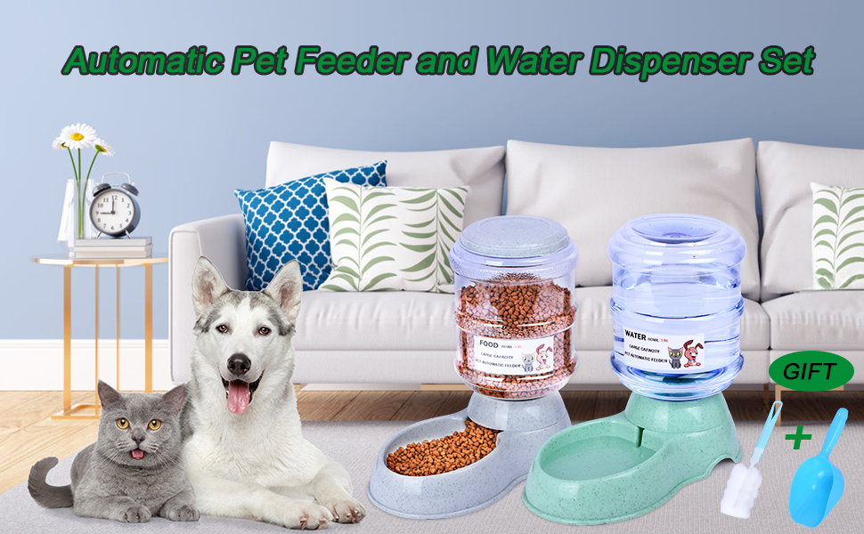 gravity feeder dog food set