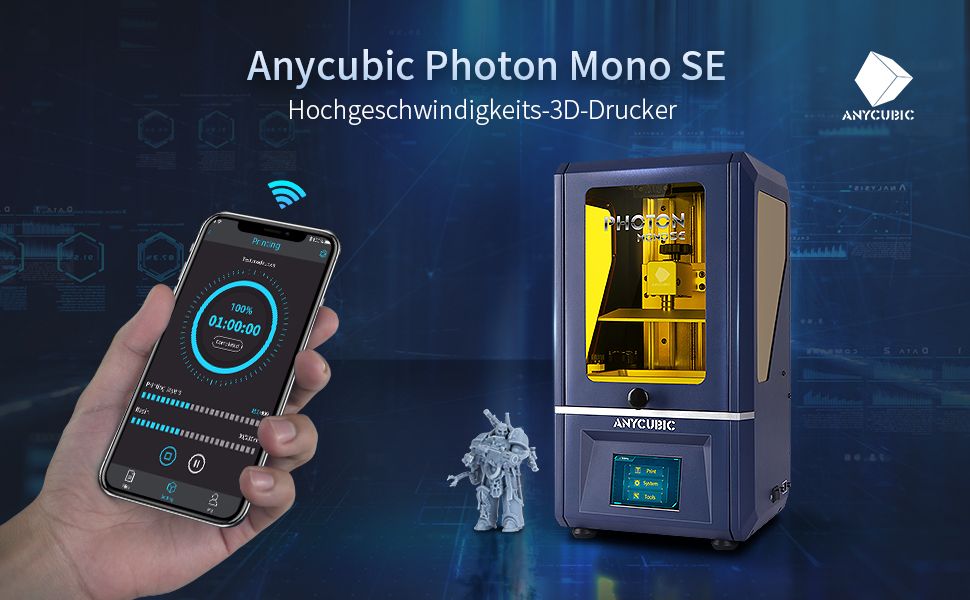 ANYCUBIC LCD SLA Photon Mono SE 3D UV Resin Drucker