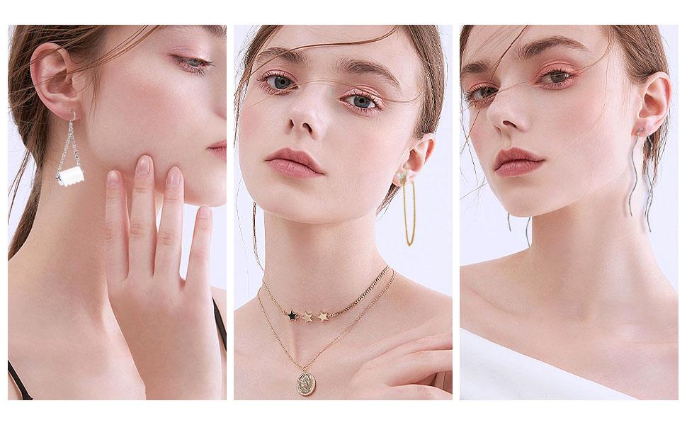 Drop Dangle Earrings boho Fashion Jewelry Vintage Statement Bohemian Earrings Set for Women Girls