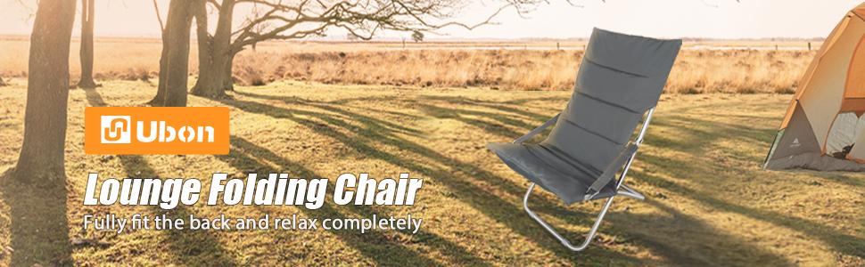 Ubon Comfortable Folding High Back Reclining Chair