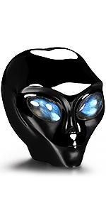Black Obsidian Alien Skull