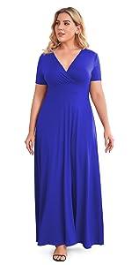 summer plus size maxi dress