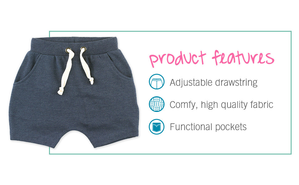 Heather Navy Jogger Shorts | RuggedButts