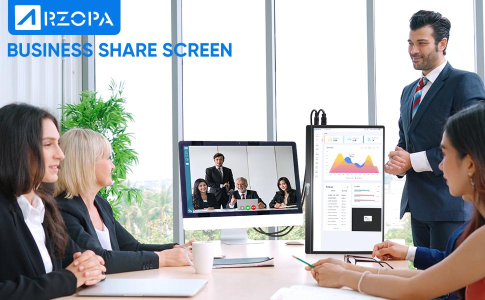 Business share screen
