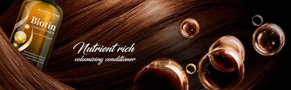 majestic pure biotin conditioner hair growth long thick sulfate free DHT blocker natural best top