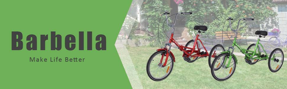 Adult Foldable Tricycles,  Adult Tricycle Three Wheel Trike Bike