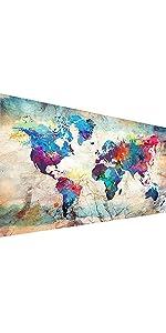 World Map YALKIN diamond painting kits for adults