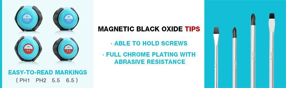 Magnetic Black Oxide Tips