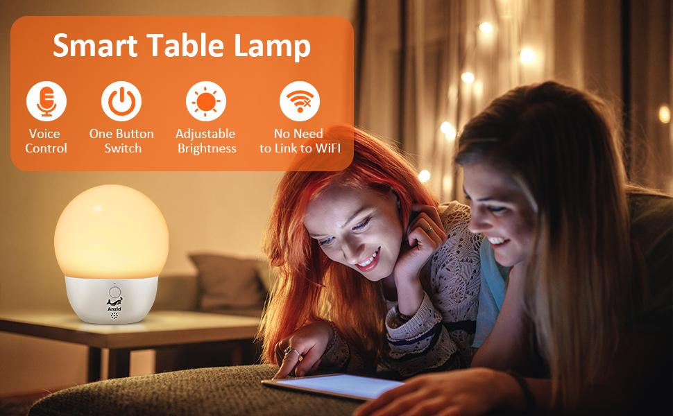 Smart Night Light latest for Kids Rechargeable Offline Lamp Voic Table