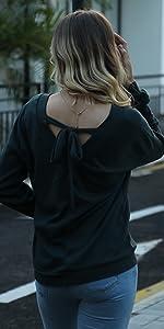 Tie Back Knit Tops