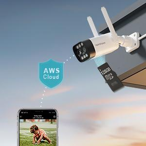 stored on AWS(Amazon Web Services) Cloud, or your own MicroSD card