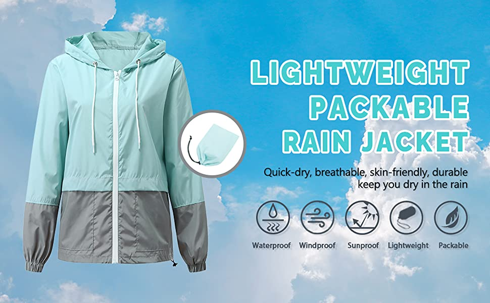 lightweight rain jacket women
