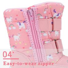 Easy-to-wear zipper