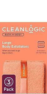 Cleanlogic Bath and Body line Large Body Exfoliators