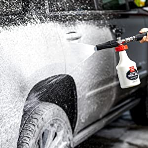 foaming car wash, thick snow foam output. dual-foam technology allows you to safely wash your car