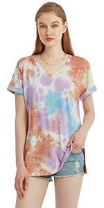 Womens Tie Dye T shirts