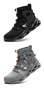 mesh upper work boots