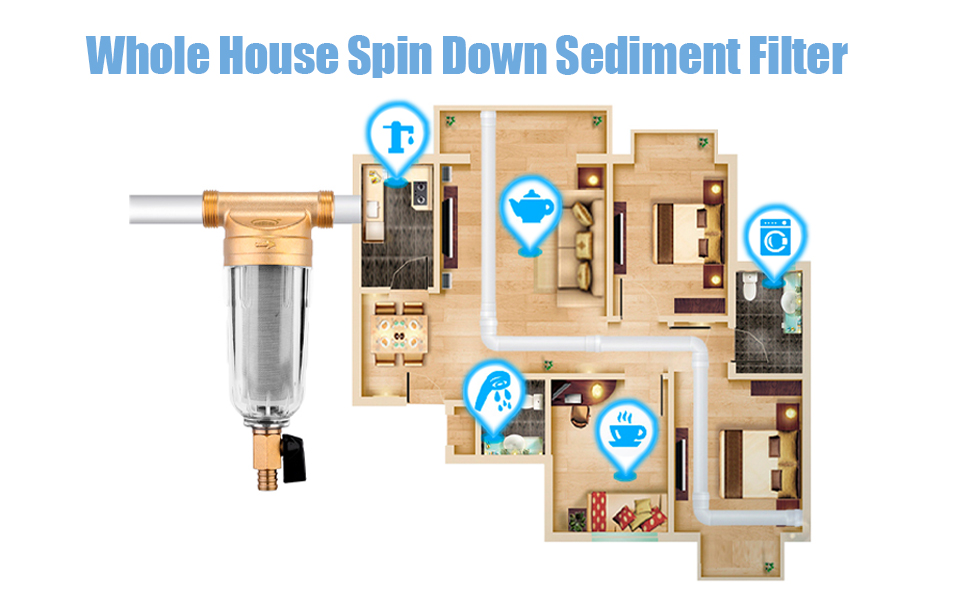 Whole House Spin Down Sediment Filter