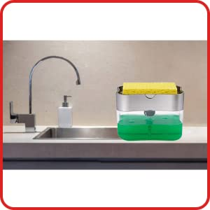 Zooy 2 in 1 liquid soap dispenser LF