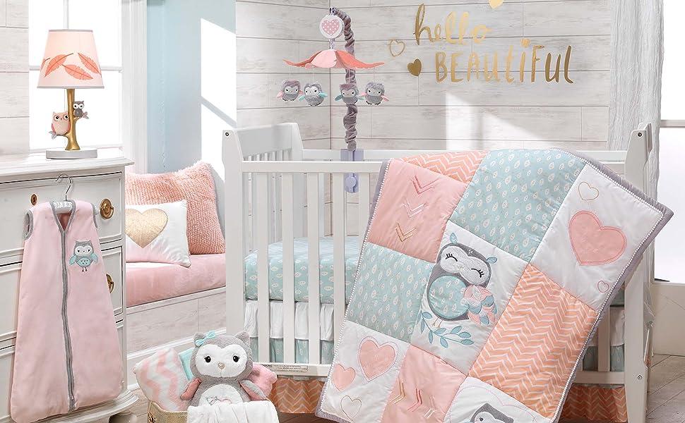 Sweet Owl Dreams Nursery with Crib Set