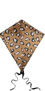 Image of Animal Print Diamond Kite with Black Tails