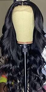 Lace front human hair body wave wigs