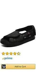 Women Men Adjustable Wide Shoes Swollen Feet Diabetic Edema Boots Slippers Indoor Outdoor Sandals