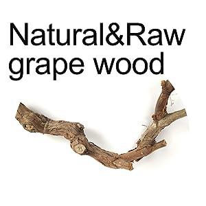 Natural and Raw grape wood