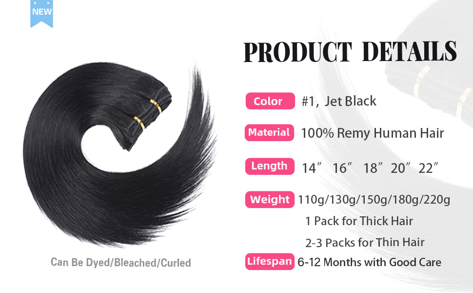 clip in human hair extensions for black women