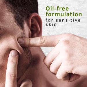 Oil-free formulation for sensitive skin