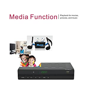 iView 35000STBIII Digital Converter Box - Media Function - Playback for movies, pictures and music