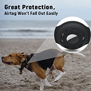 The Airtag dog collar holder won't make your airtag fall out easily