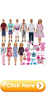 EuTengHao 34Pcs Doll Clothes and Accessories for 12 Inch Boy and Girl Dolls Chef Kitchen Playset
