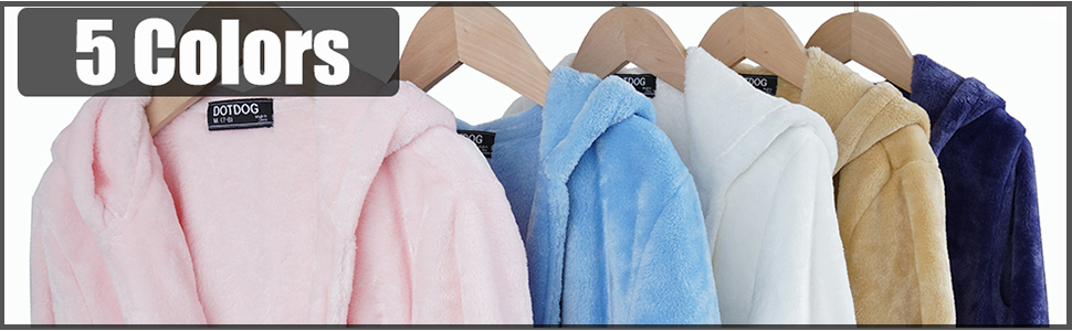 kids soft fleece robe hooded bathrobe