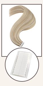 ash blonde tape in hair extensions human hair blonde highlight