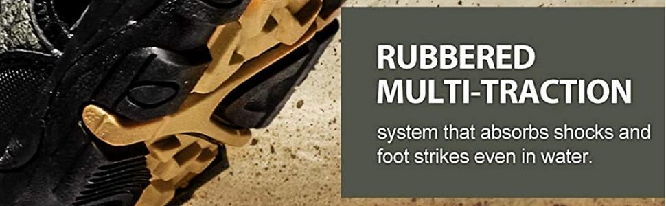 Rubbered multi-traction