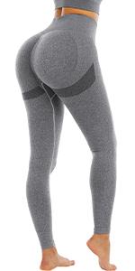 Grey butt lifting leggings women