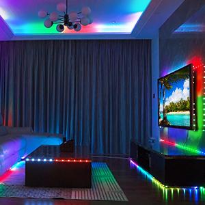 led strip lights  bedroom