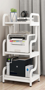 3 Tier floor white  Office home  Printer Copier  Scanner book  Stand Rack Shelf holder with  wheel
