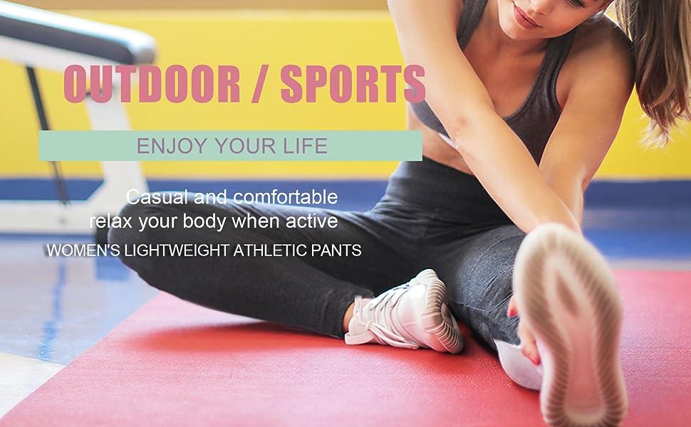 running jogging training performance knit trousers sweatpants activewear track pants women