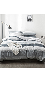 cotton geometric duvet cover sets