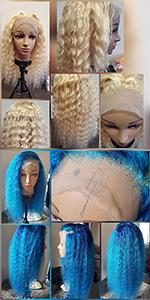 curly wave blonde human hair wigs