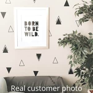 Nursery decorated with tribal triangle vinyl wall decals