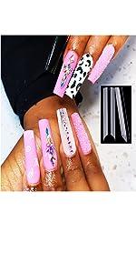 C curve nail tips