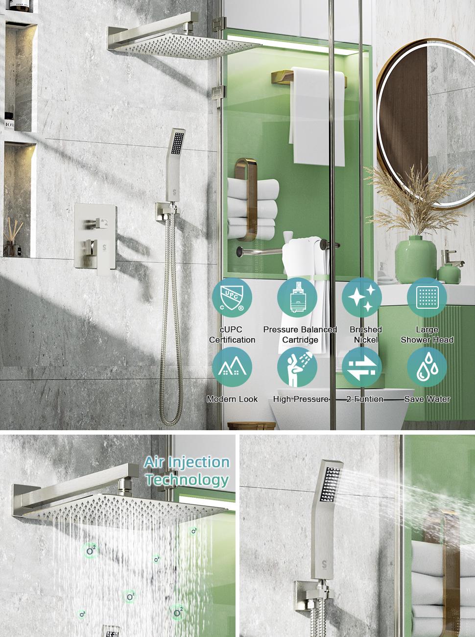 shower system brushed nickel